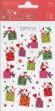 BSB Weihnachtsmänner mit Geschenken mit Goldprägung Xmas Turnowsky Sticker