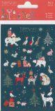 BSB Weihnachtstiere mit Goldprägung Xmas Turnowsky Sticker