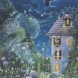 GOLLONG Haus bei Nacht - Sabrina Comizzi Postkarte
