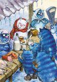 LOVELYCARDS Auf dem Markt - Rina Zenyukov Postkarte
