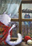 LOVELYCARDS Liebe im Regen - Rina Zenyukov Postkarte