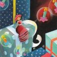 TAURUS-KUNSTKARTEN Mädchen auf Geschenk - Marie Cardouat Postkarte