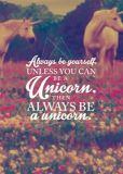 MT Always be a unicorn - Visual Statements Postkarte