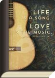 TAURUS-KUNSTKARTEN Life is a song Love is music  - BookCard Postkarte