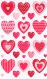 BSB Gemusterte Herzen Sticker