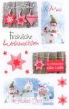 BSB Fröhliche Weihnachten Schneemänner Sticker