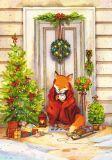 LOVELYCARDS Lizzie in Weihnachtsstimmung / Fuchs - Evgenia Chistotina Postkarte