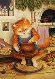 LOVELYCARDS Töpfern / Katze - Alexander Maskaev Postkarte