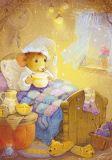 LOVELYCARDS Maus im Bett - Catherine Babok Postkarte