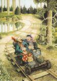TAURUS-KUNSTKARTEN Frauen fahren mit der Draisine - Inge Löök Postkarte