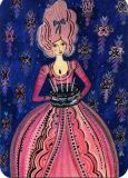 CARTES DART Frau mit Kuchen Postkarte