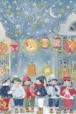GOLLONG Kinder mit Laternen - Kerstin Heß Postkarte