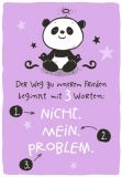 HOPE & GLORIA Nicht. Mein. Problem. Postkarte