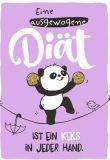 HOPE & GLORIA Ausgewogene Diät ist Keks in jeder Hand Postkarte