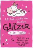 HOPE & GLORIA Immer bisschen Glitzer in der Tasche Postkarte