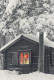 ABC Weihnachtshütte MOMENTS OF COLOUR Postkarte