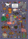 TAURUS-KUNSTKARTEN Welches Tier hat schon ein Weihnachtsgeschenk? - Charis Bartsch Postkarte