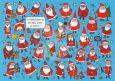 TAURUS-KUNSTKARTEN Wo ist die verlorene Mütze vom Weihnachtsmann? - Charis Bartsch Postkarte
