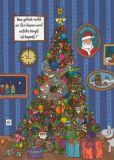 TAURUS-KUNSTKARTEN Was gehört nicht an den Weihnachtsbaum? - Charis Bartsch Postkarte