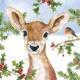 GOLLONG Reh im Winter - Carola Pabst Postkarte