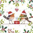GOLLONG Zwei Rotkehlchen mit Geschenken - Carola Pabst Postkarte