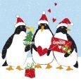 GOLLONG Pinguine mit Herz - Carola Pabst Postkarte