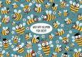 LALI Wer hat Blumen für Dich? / Bienen Postkarte