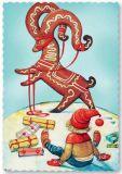 ARTELIUS Lebkuchenrentier - Zwerg Postkarte