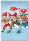 ARTELIUS Schlittschuh fahren - Zwerg Postkarte