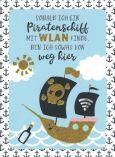 GOLDBEK Piratenschiff mit Wlan Sternenstaub Postkarte