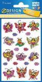Z-Design cute butterflies with glitter stickers