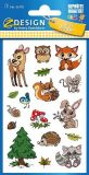 Z-Design critters with glitter stickers