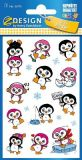 Z-Design penguins with glitter stickers