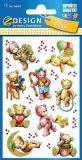 Z-Design Teddy mit Glitzer Folien Sticker