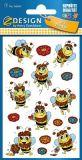 Z-Design Biene mit Glitzer Folien Sticker