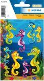 Herma Seepferdchen Neon Sticker