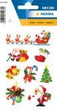 Herma Weihnachtsmann mit Schlitten Sticker