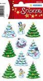 Herma Weihnachtsbäume mit Schneemännern Sticker