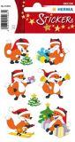 Herma Weihnachtsfüchse Sticker