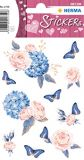 Herma roses dream - pink blue stickers