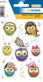 Herma sweet owls transpuffy stickers