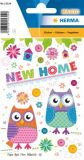 Herma New Home Eulen Folien Sticker