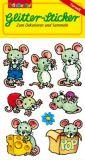 LUTZ MAUDER mice with glitter stickers