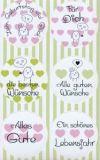 AVANsticker Küken mit Herzen / runde Sticker