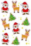 AVANsticker Santa Claus + reindeer stickers