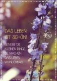 KATJA DIECKMANN Das Leben ist schön! / lila Blüten - Zauberwerke Postkarte
