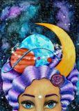 DANACARDS Madame Galaxia - Lilli Kuhn Postkarte