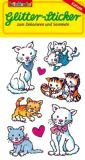 LUTZ MAUDER cats glitter stickers