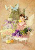 LOVELYCARDS fairy with herbs - Catherine Babok postcard