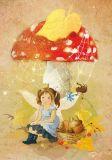 LOVELYCARDS fairy under fly agaric - Catherine Babok postcard